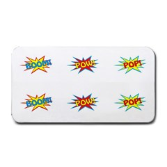 Boom Pow Pop Sign Medium Bar Mats by Alisyart