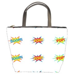Boom Pow Pop Sign Bucket Bags by Alisyart