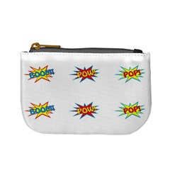 Boom Pow Pop Sign Mini Coin Purses by Alisyart