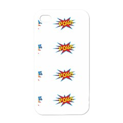 Boom Pow Pop Sign Apple Iphone 4 Case (white) by Alisyart