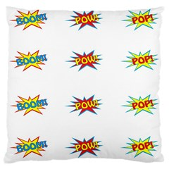 Boom Pow Pop Sign Large Cushion Case (two Sides) by Alisyart