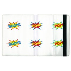 Boom Pow Pop Sign Apple Ipad 2 Flip Case by Alisyart