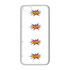 Boom Pow Pop Sign Apple Iphone 5c Seamless Case (white) by Alisyart