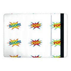 Boom Pow Pop Sign Samsung Galaxy Tab Pro 10 1  Flip Case by Alisyart
