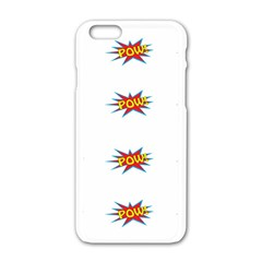 Boom Pow Pop Sign Apple Iphone 6/6s White Enamel Case by Alisyart