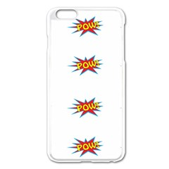 Boom Pow Pop Sign Apple Iphone 6 Plus/6s Plus Enamel White Case by Alisyart