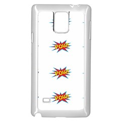 Boom Pow Pop Sign Samsung Galaxy Note 4 Case (white)