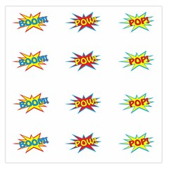 Boom Pow Pop Sign Large Satin Scarf (square)