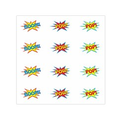 Boom Pow Pop Sign Small Satin Scarf (square)