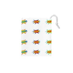 Boom Pow Pop Sign Drawstring Pouches (xs)