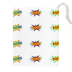 Boom Pow Pop Sign Drawstring Pouches (xxl) by Alisyart