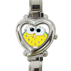 Bird Big Eyes Yellow Heart Italian Charm Watch by Alisyart