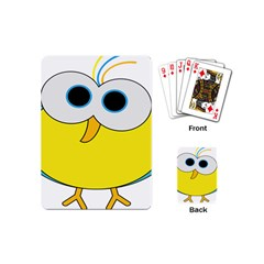Bird Big Eyes Yellow Playing Cards (mini)