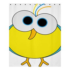 Bird Big Eyes Yellow Shower Curtain 60  X 72  (medium)  by Alisyart