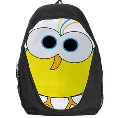 Bird Big Eyes Yellow Backpack Bag