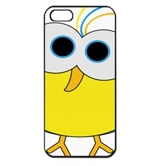 Bird Big Eyes Yellow Apple Iphone 5 Seamless Case (black)
