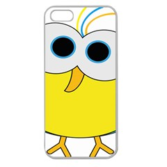 Bird Big Eyes Yellow Apple Seamless Iphone 5 Case (clear)