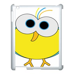 Bird Big Eyes Yellow Apple Ipad 3/4 Case (white)