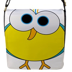 Bird Big Eyes Yellow Flap Messenger Bag (s)