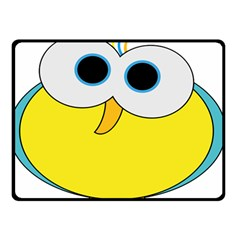 Bird Big Eyes Yellow Double Sided Fleece Blanket (small)  by Alisyart