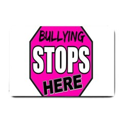 Bullying Stops Here Pink Sign Small Doormat  by Alisyart