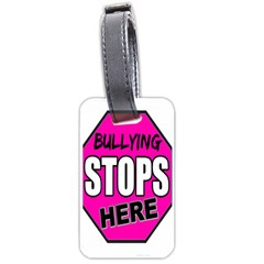 Bullying Stops Here Pink Sign Luggage Tags (one Side)