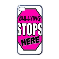 Bullying Stops Here Pink Sign Apple Iphone 4 Case (black)