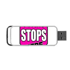 Bullying Stops Here Pink Sign Portable Usb Flash (two Sides) by Alisyart