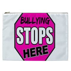 Bullying Stops Here Pink Sign Cosmetic Bag (xxl)  by Alisyart
