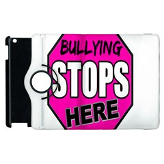 Bullying Stops Here Pink Sign Apple Ipad 2 Flip 360 Case by Alisyart