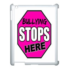Bullying Stops Here Pink Sign Apple Ipad 3/4 Case (white)