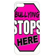 Bullying Stops Here Pink Sign Apple Iphone 5 Hardshell Case With Stand