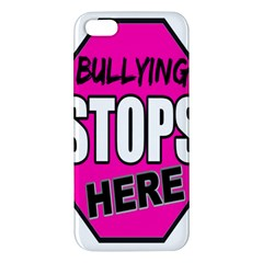 Bullying Stops Here Pink Sign Apple Iphone 5 Premium Hardshell Case