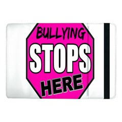 Bullying Stops Here Pink Sign Samsung Galaxy Tab Pro 10 1  Flip Case