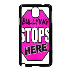 Bullying Stops Here Pink Sign Samsung Galaxy Note 3 Neo Hardshell Case (black)