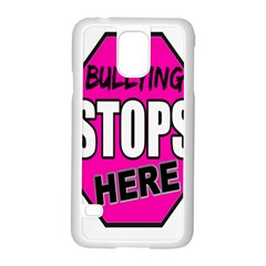 Bullying Stops Here Pink Sign Samsung Galaxy S5 Case (white)