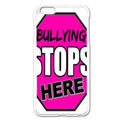 Bullying Stops Here Pink Sign Apple Iphone 6 Plus/6s Plus Enamel White Case