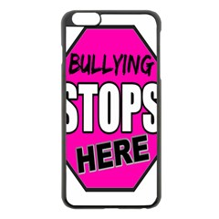 Bullying Stops Here Pink Sign Apple Iphone 6 Plus/6s Plus Black Enamel Case by Alisyart