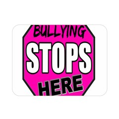 Bullying Stops Here Pink Sign Double Sided Flano Blanket (mini)