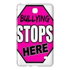 Bullying Stops Here Pink Sign Samsung Galaxy Tab 4 (7 ) Hardshell Case  by Alisyart