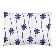 Geometric Flower Seamless Repeating Pattern With Curvy Lines Pillow Case by Simbadda