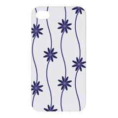 Geometric Flower Seamless Repeating Pattern With Curvy Lines Apple Iphone 4/4s Premium Hardshell Case by Simbadda