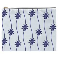 Geometric Flower Seamless Repeating Pattern With Curvy Lines Cosmetic Bag (xxxl)