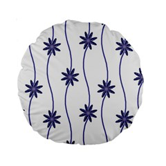 Geometric Flower Seamless Repeating Pattern With Curvy Lines Standard 15  Premium Round Cushions by Simbadda
