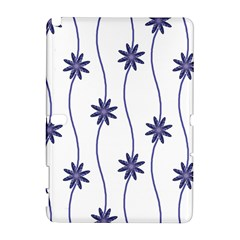 Geometric Flower Seamless Repeating Pattern With Curvy Lines Galaxy Note 1