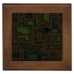 Circuit Board A Completely Seamless Background Design Framed Tiles by Simbadda