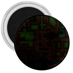 Circuit Board A Completely Seamless Background Design 3  Magnets