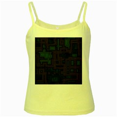 Circuit Board A Completely Seamless Background Design Yellow Spaghetti Tank by Simbadda