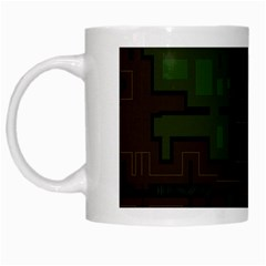 Circuit Board A Completely Seamless Background Design White Mugs by Simbadda