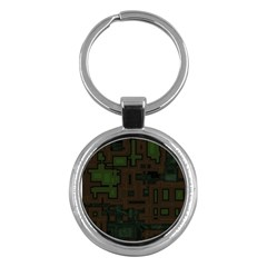 Circuit Board A Completely Seamless Background Design Key Chains (round)  by Simbadda
